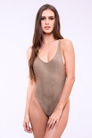 Reversible Suede One Piece