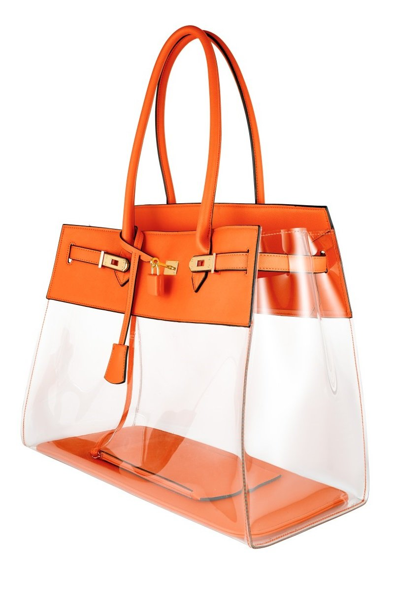 84b4bdcc88 Designer Orange Tote Bag ...