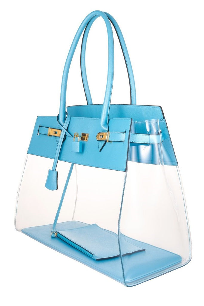 Baby Blue Beach Tote Bag