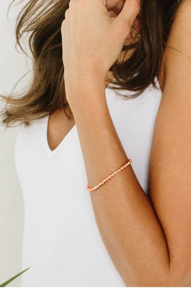 Tess and Tricia Stella Apricot Single Bracelet