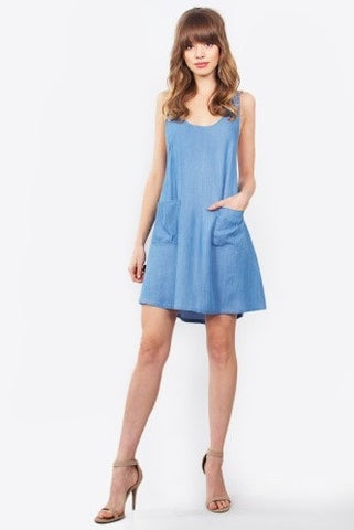 Sugar Lips Daisy Chambray Dress