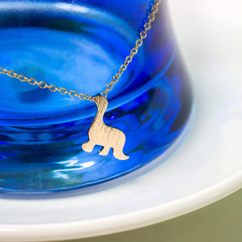 Gold Plated Dinosaur Necklace