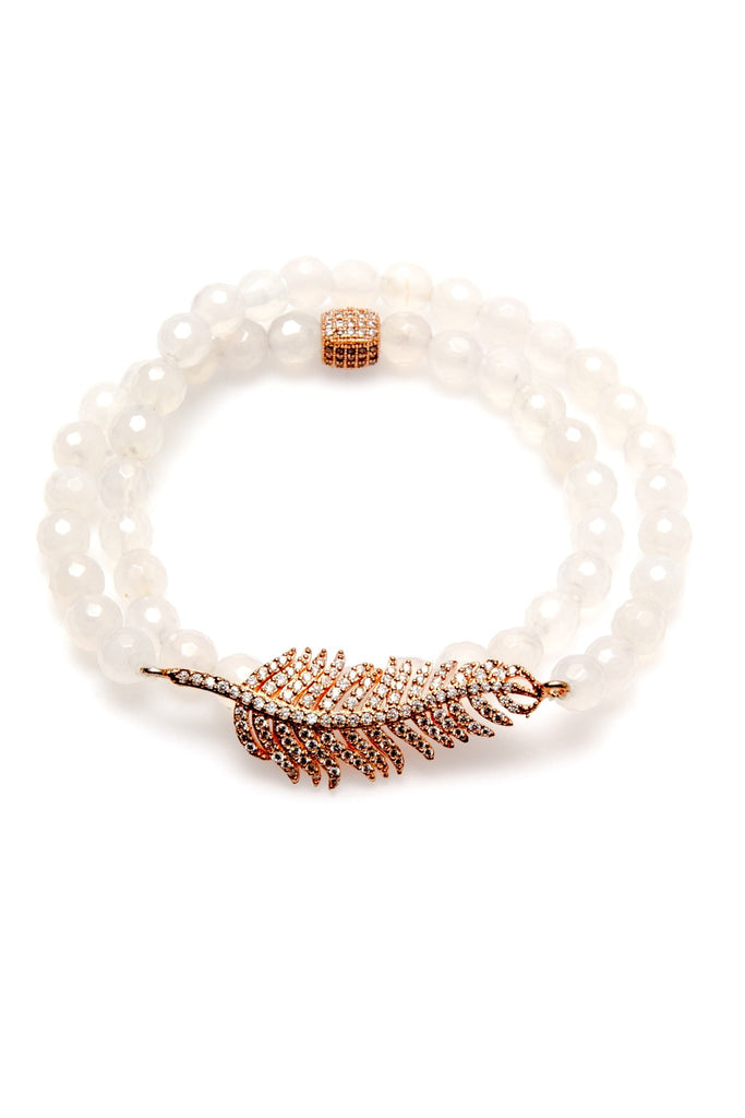 beautiful stranger white wrap bracelet
