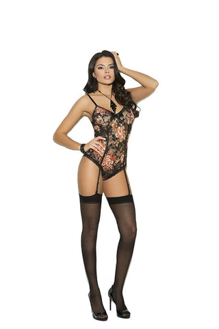Lace Teddiette With Garters
