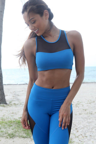 Blue Equilibrium Sports Bra