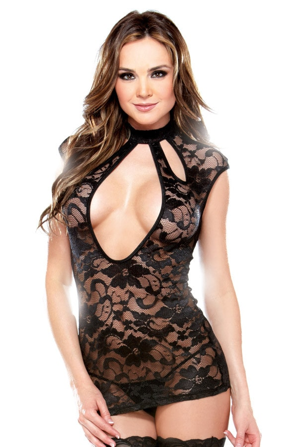 Black Cut Out Lingerie Dress