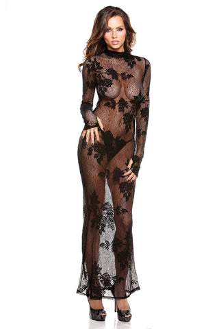 Black Lace Lingerie Gown