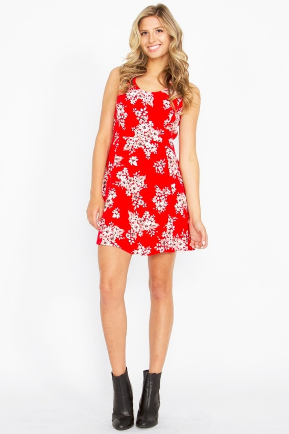 Sugar Lips Another Day Floral Criss Cross Dress - Bikini Luxe