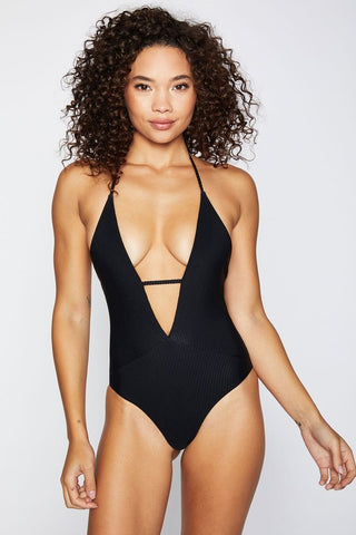 Frankie's Bikinis Lily One Piece - Black