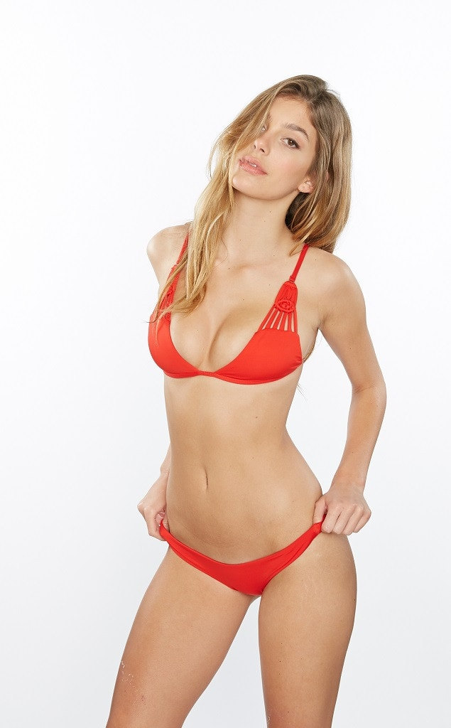 Frankies Bikinis Lava Red Bella Top