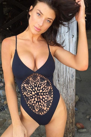 Black Poppy One Piece
