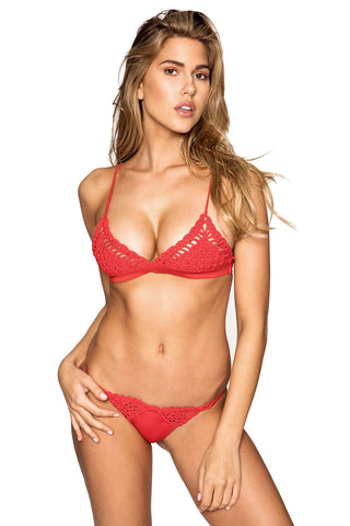Frankies Bikinis - Stella Top in Red