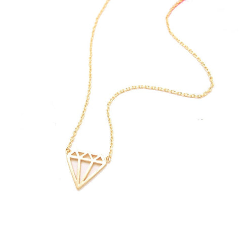 gold bejeweled dainty necklace