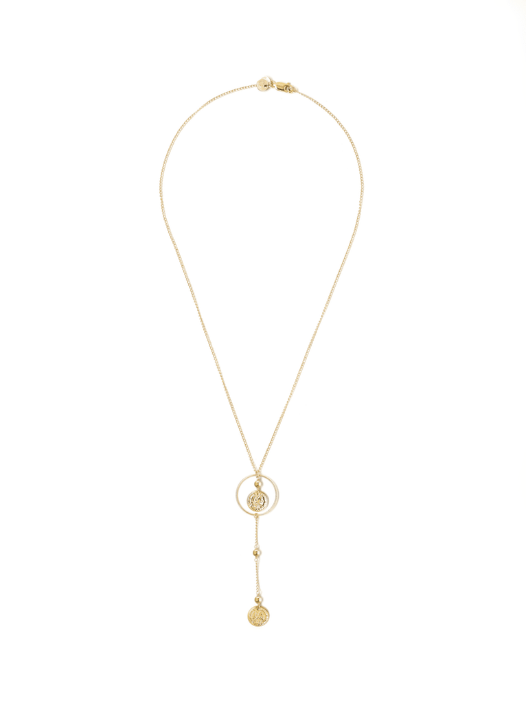 gold lariat necklace