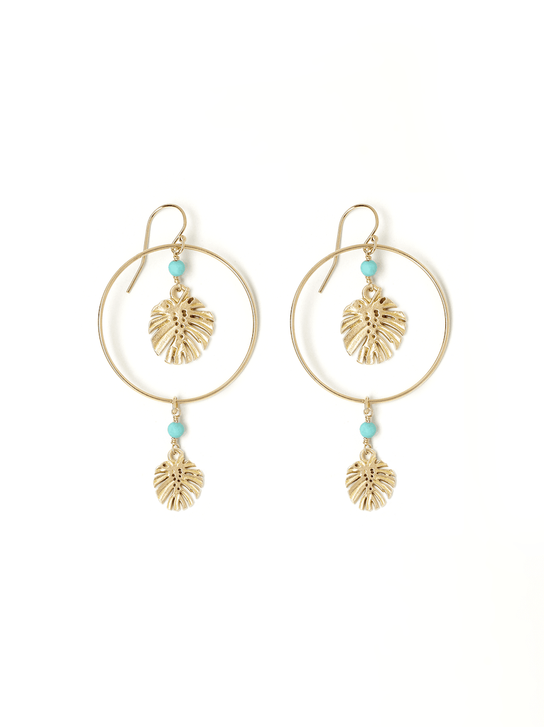 gold leaf duo earring