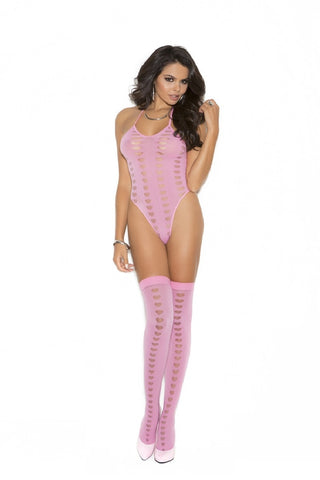 Pink Teddy Bodysuit
