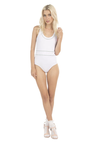 Lolli Swim White One Piece - Hello Hi