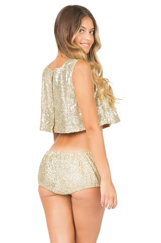 Gold Lolli Shorts - Bloomies Bottom