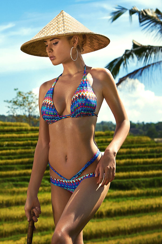 Luli Fama Tribal Beach Bikini Top