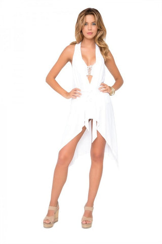 Luli Fama White Beach Dress