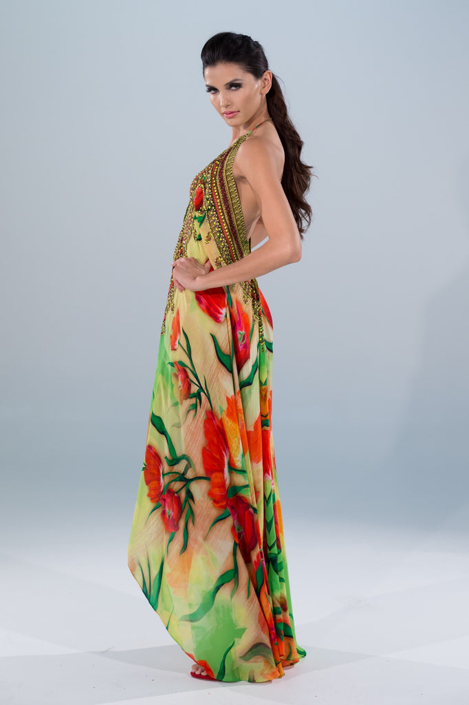Shahida Parides Floral Maxi Dress