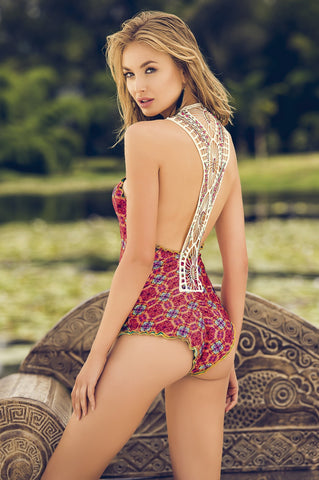 Crochet Back One Piece - Templo del Mar