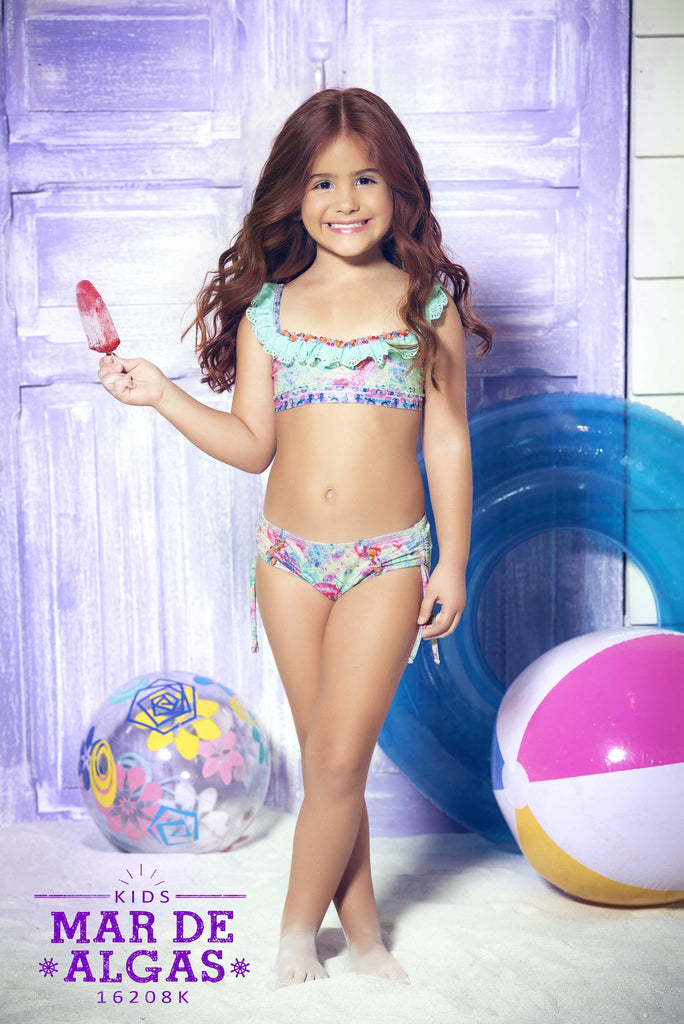 Mar de Algas Children's Bikini | Bikini Luxe