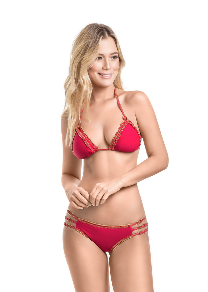Mar De Rosas - Cienfuegos Triangle Bikini Set