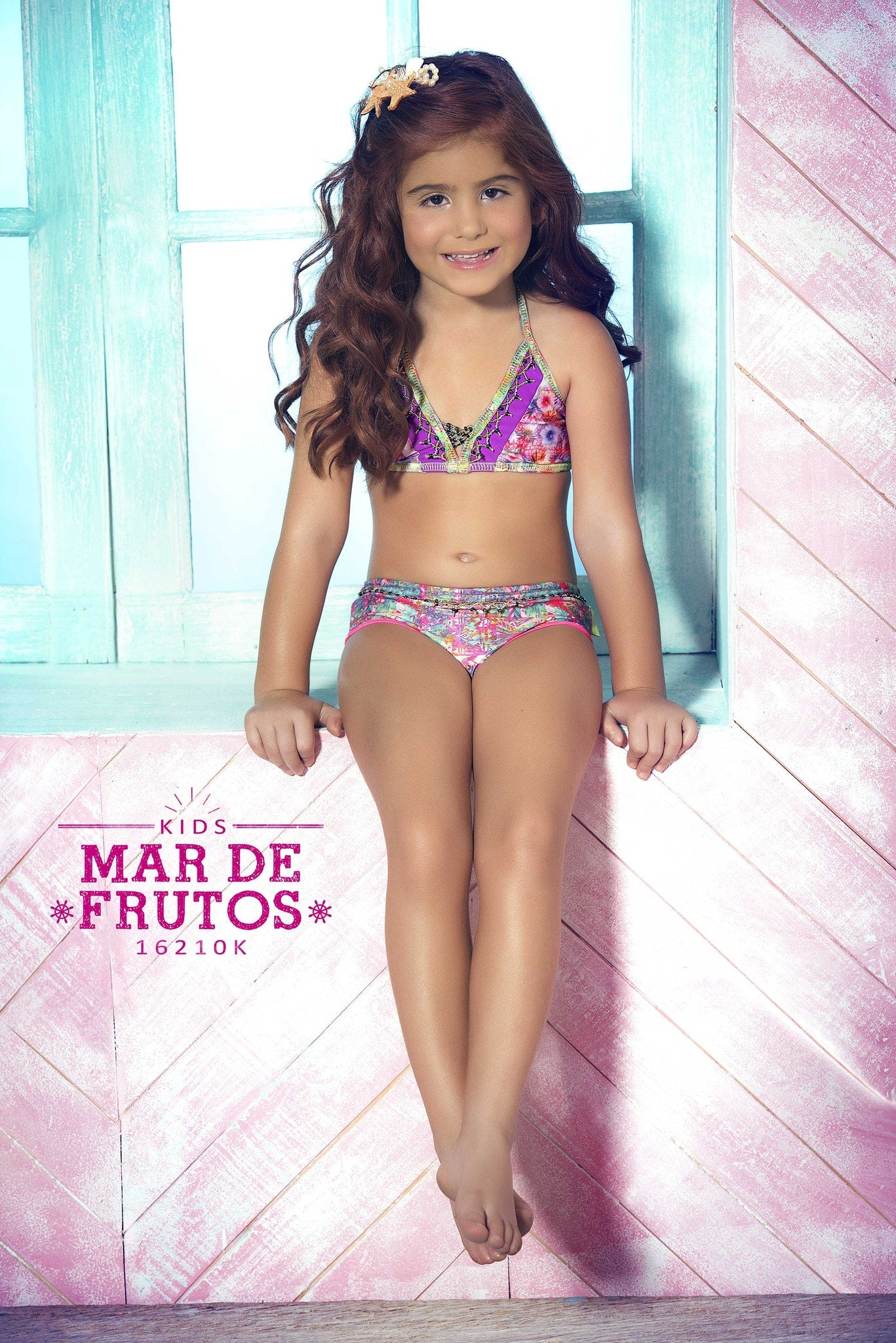 Mar De Rosas Frutos Designer Kids Swim