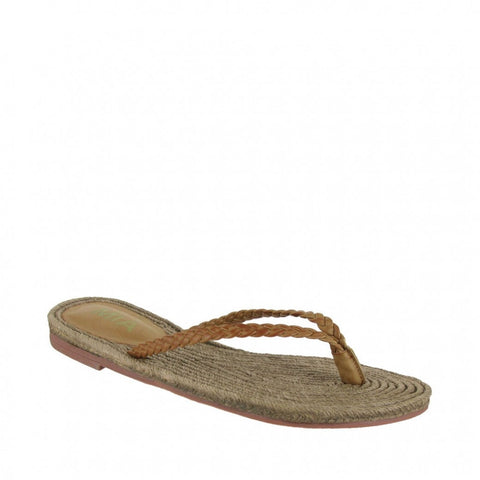 MIA Shoes Nabila Flip Flops | Neutral Beach Sandals