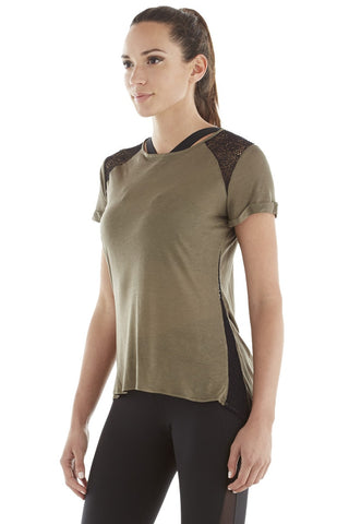 Michi Liquify Top - Olive | Women's Activewear