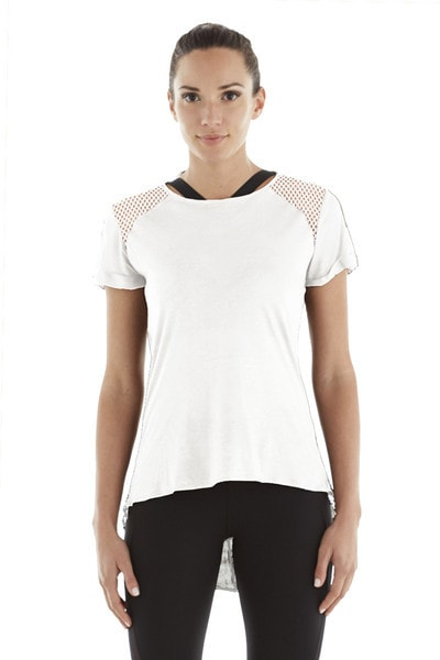 Michi Liquify Top- White | Designer Activewear