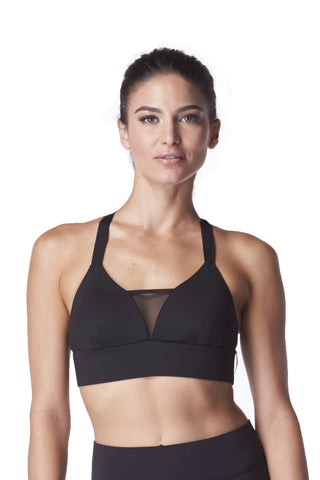 Black Royal Sports Bra