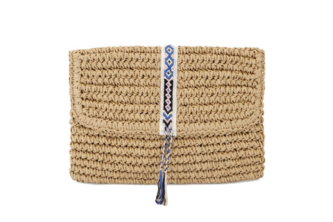 Mini Straw Bag by Fallon + Royce