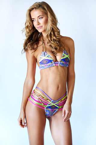 montce swim mixed media bikini