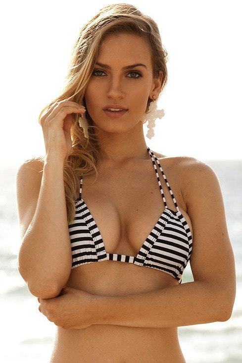 Montce Swimwear Striped Euro Top