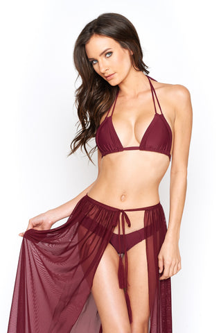 Montce Swim Tie Up Maxi Skirt - Cover up