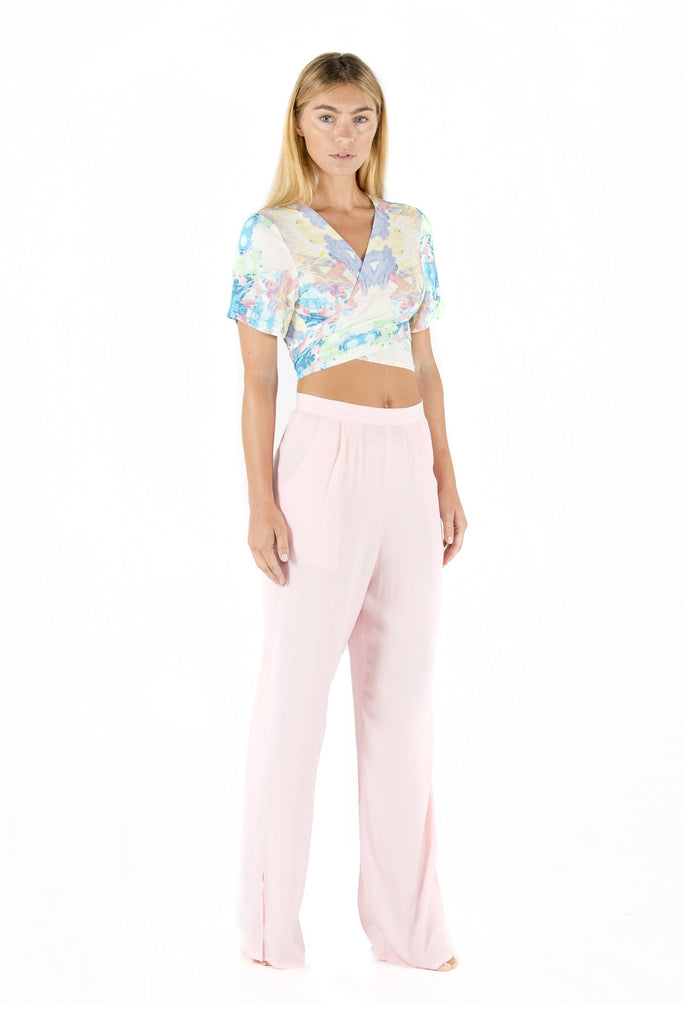 resort wear pink pants