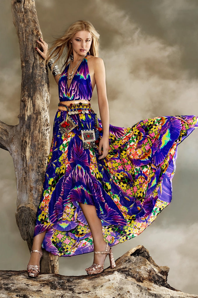 Parides Purple Maxi Dress - Luxury Collection