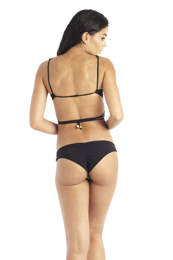 Perfect Peach - 22 Tango Bikini Bottom in Black