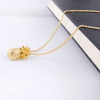 Gold Pineapple Necklace Pendant