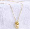 Pendant Gold Pineapple Necklace