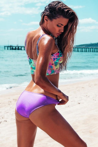 Robb and Lulu Purple Bikini Bottoms
