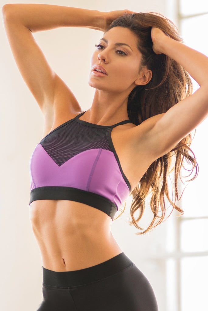 Purple Luxury Workout Top
