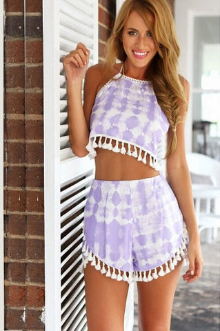 purple tie dye playsuit