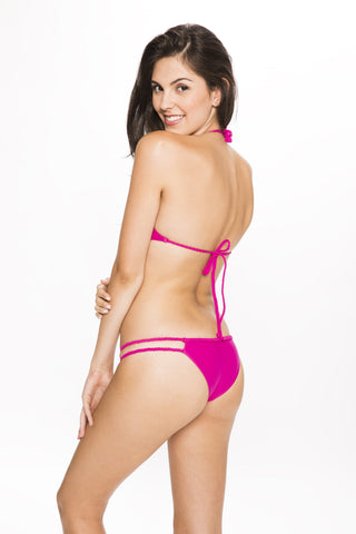 Frankie's Bikinis Oceanside Bottom - Raspberry