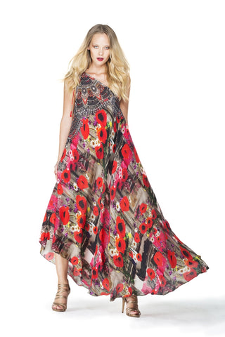 Red Maxi Dress - Shahida Parides