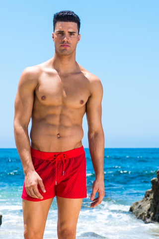 Sauvage Red Swim Trunks