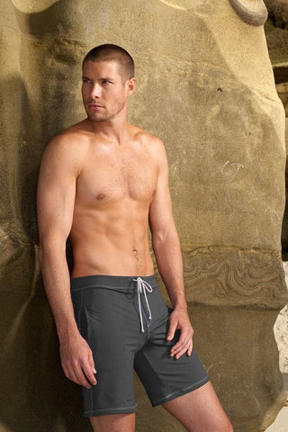Charcoal Grey Designer Activewear Shorts