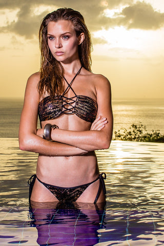 Sauvage Bronze Animal Bikini | Luxury Bronze Bikini